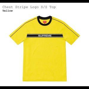 Supreme SS19 Chest Striped Logo S/S Top MEDIUM